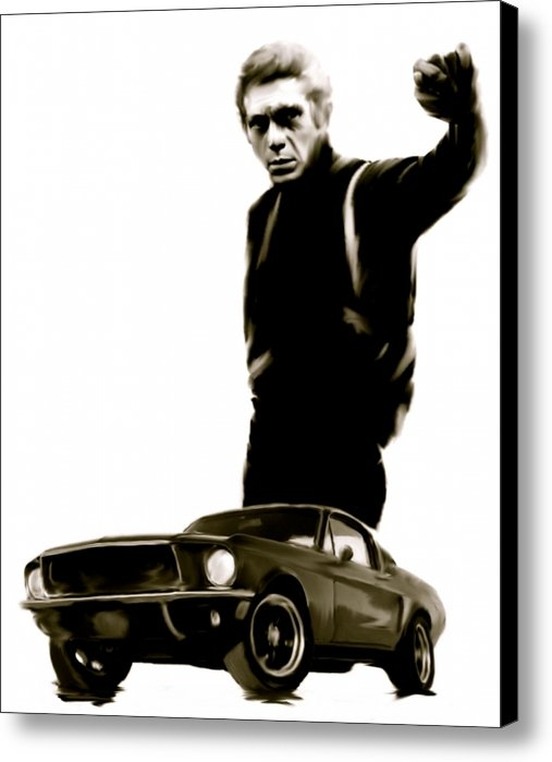 Iconic Images Art Gallery David Pucciarelli - Bullet Cool  Steve McQuee... Print