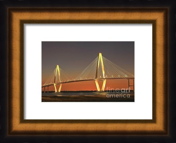 Adam Jewell - Ravenel Bridge At Dusk Print