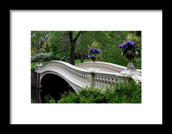 Christiane Schulze Art And Photography - Bow Bridge Flower Pots - ... Print