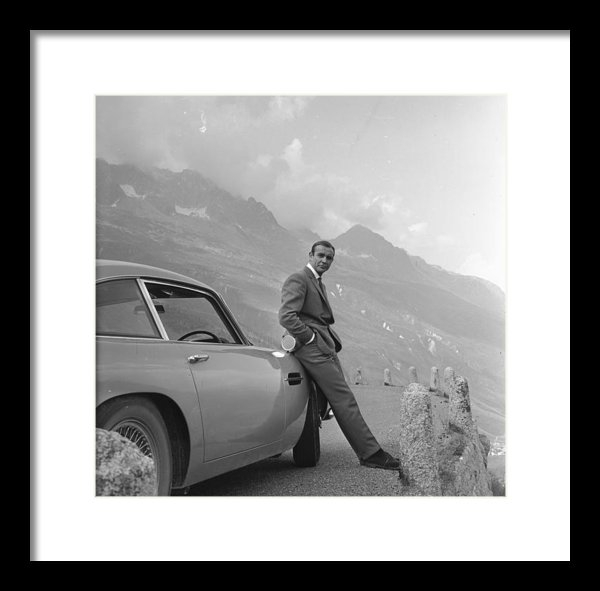 Nomad Art And  Design - James Bond and his Aston ... Print