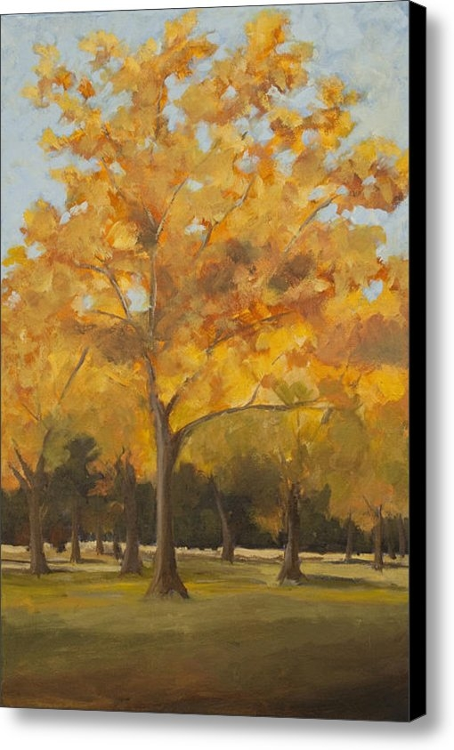 Janet Fons - Large Trees in Autumn Col... Print