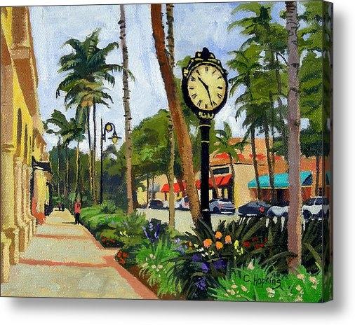 Christine Hopkins - 5th Avenue Naples Florida Print