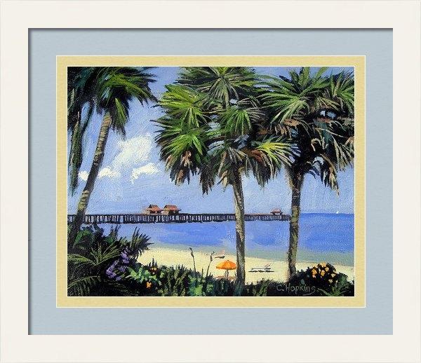 Christine Hopkins - Naples Pier Naples Florid... Print