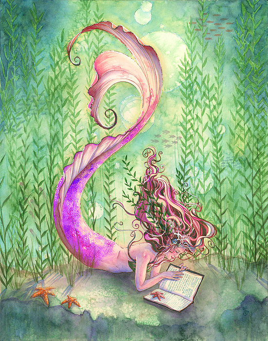 Sara Burrier - Quiet Time in Pink Print