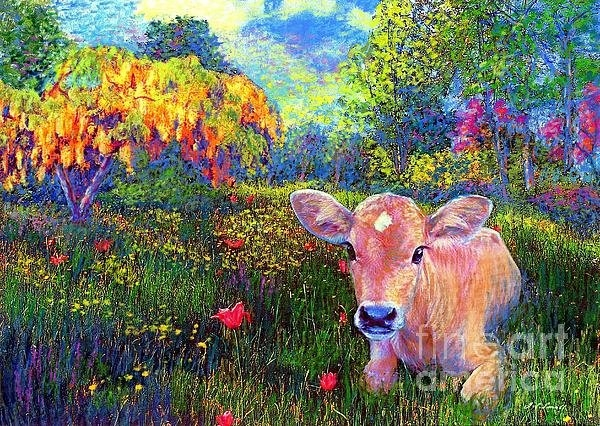 Jane Small - Such a Contented Cow Print