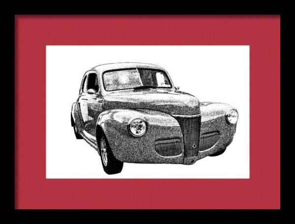 Guy Whiteley - 141 Ford Coupe Print