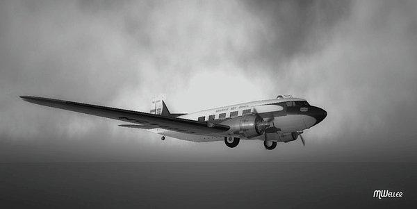 Mark Weller - DC-3 Over Water Print
