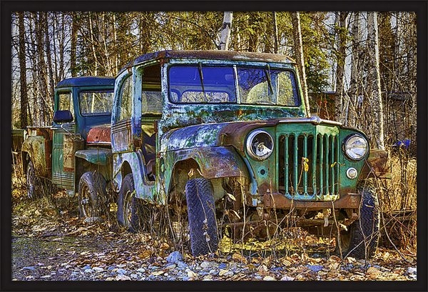 Diana Jennings - Old Jeep Print