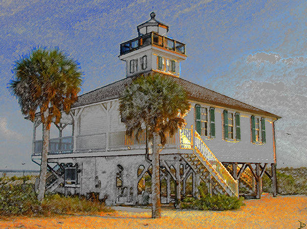 David Lee Thompson - Boca Grande Lighthouse 18... Print