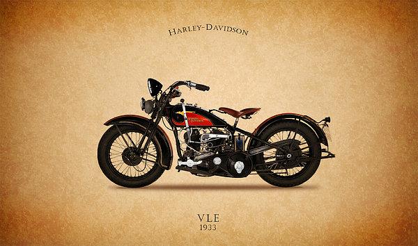 Mark Rogan - Harley-Davidson VLE 1933 Print