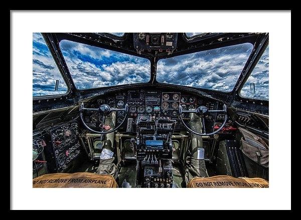 Mike Burgquist - B-17 Cockpit Print