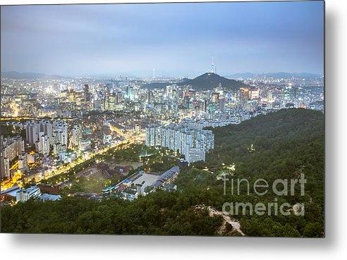 Jeremy Hansen - Ansan Mountain in Seoul Print