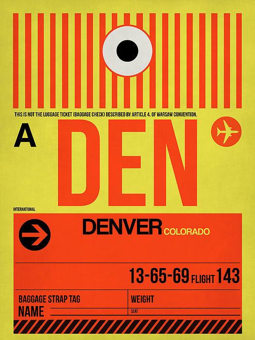 Naxart Studio - Denver Airport Poster 3 Print