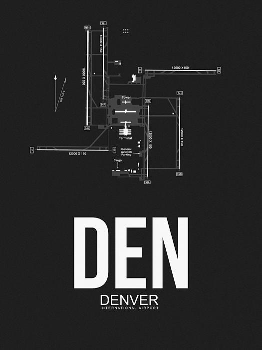 Naxart Studio - Denver Airport Poster 1 Print