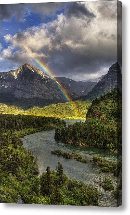 Mark Kiver - Swiftcurrent River Rainbo... Print