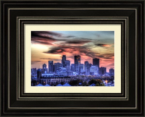 Shawn Everhart - Minneapolis Skyline Autum... Print