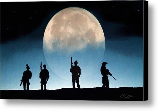 Peter Chilelli - Moonrise Mission Print