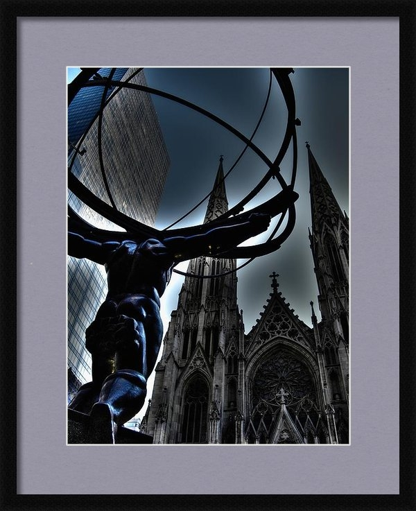 Mark J Dunn - Atlas 30 Rock Print