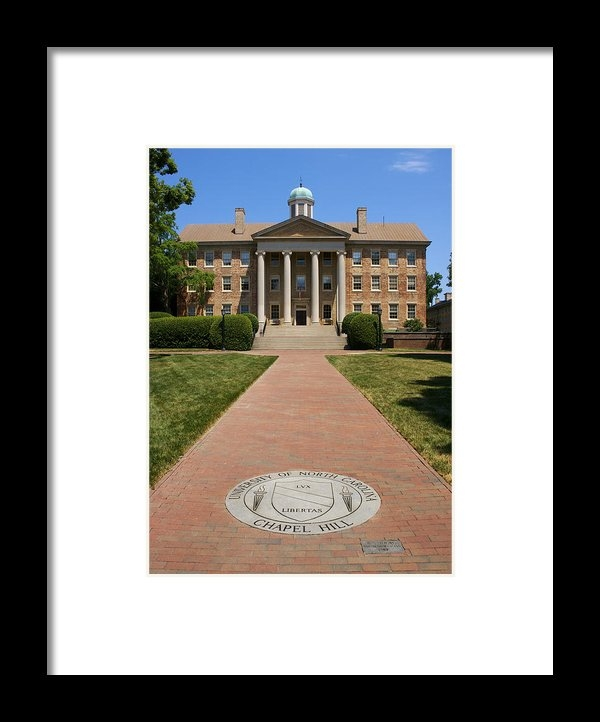 Orange Cat Art - UNC-CH South Building Print