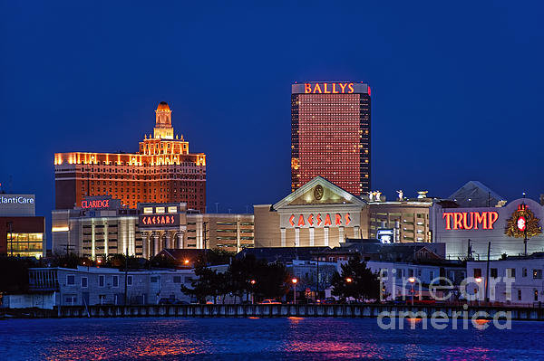 John Greim - Atlantic City Skyline Print