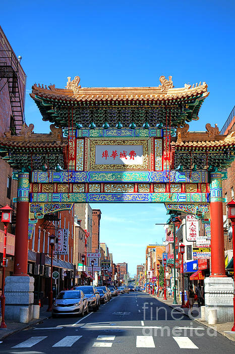 Olivier Le Queinec - Chinatown Friendship Gate Print