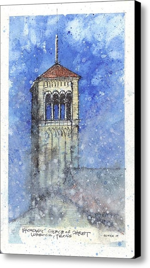Tim Oliver - Broadway Church Tower Print
