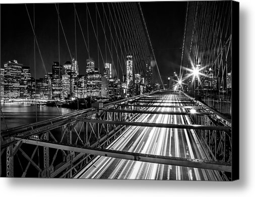 Az Jackson - Light Trails Of Manhattan Print