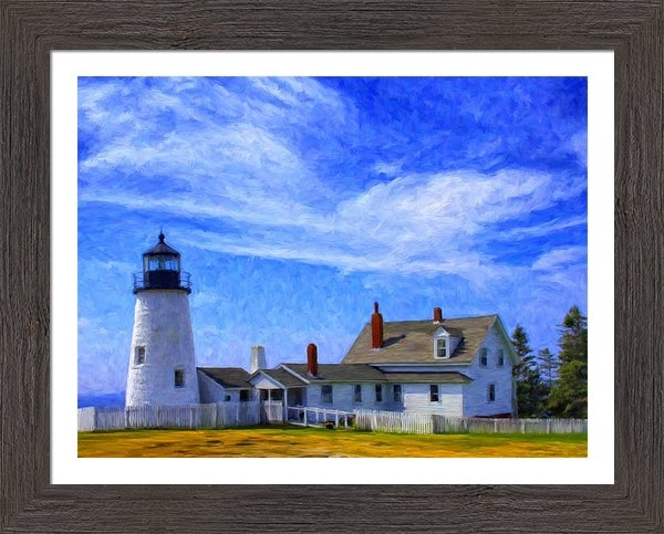 Dominic Piperata - Pemaquid Point Lighthouse Print