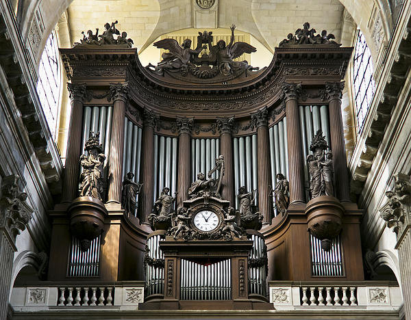 Jenny Setchell - Pipe organ in St Sulpice Print