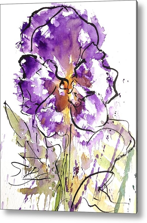 Garima Srivastava - Enclosed in ink-Pansy Print