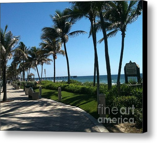 Thomas Levine - Beach Side at Deerfield B... Print