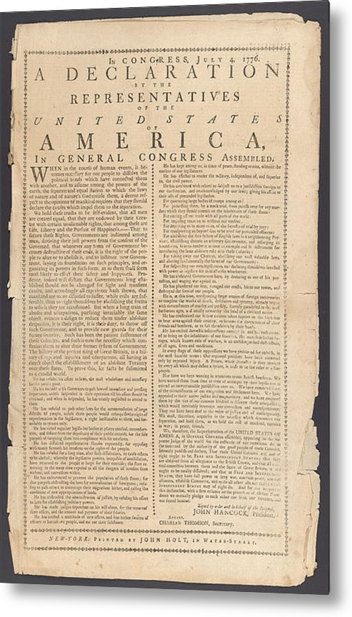Paul Van Scott - Declaration Of Independen... Print