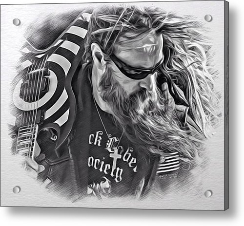 Scott Wallace  - Zakk Wylde Sketch Print