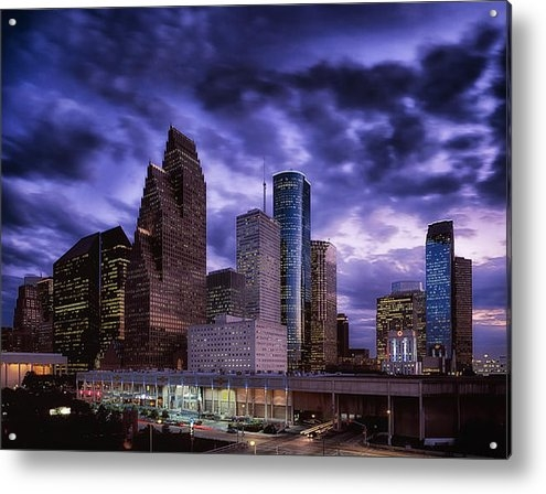 Mountain Dreams - Houston at Twilight Print