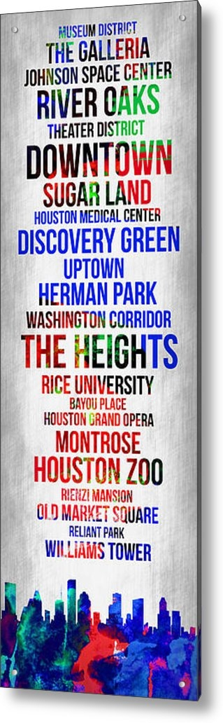 Naxart Studio - Streets of Houston 1 Print