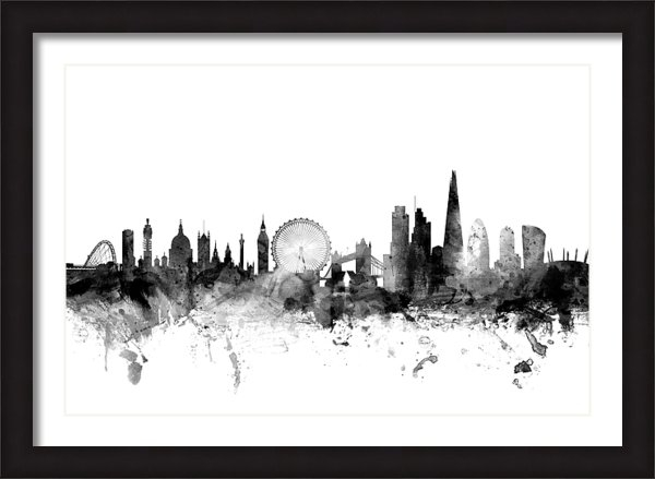 Michael Tompsett - London England Skyline Print