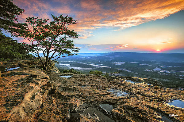 Steven Llorca - Sunset Rock Lookout Mount... Print