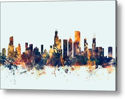 Michael Tompsett - Chicago Illinois Skyline Print