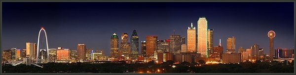 Jon Holiday - Dallas Skyline at Dusk  Print