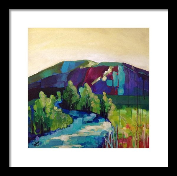 Jessi West Lundeen - Fall Creek At Sunset Print