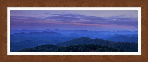 Andrew Soundarajan - Blue Ridge Panorama at Du... Print