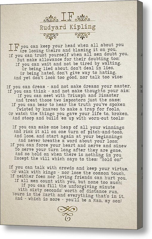 Pete Baldwin - IF By Rudyard Kipling Print