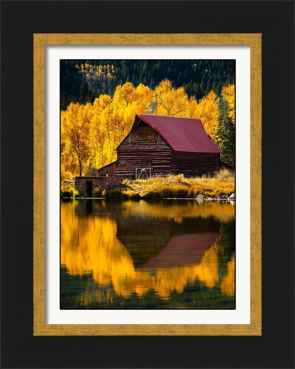 Adam Schallau - Red Roof Barn In Fall Print
