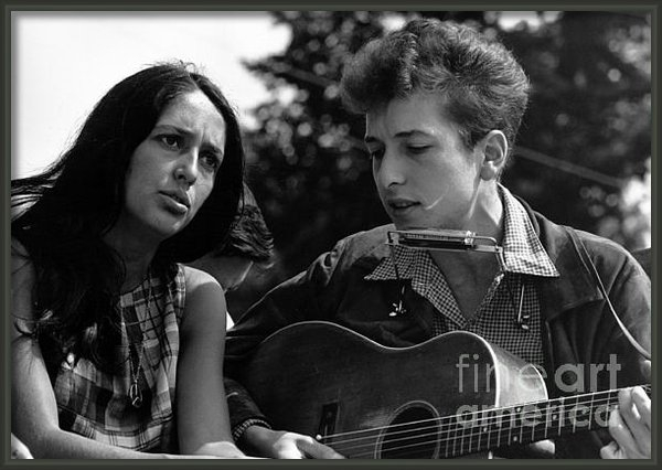 Celestial Images - Joan Baez with Bob Dylan Print