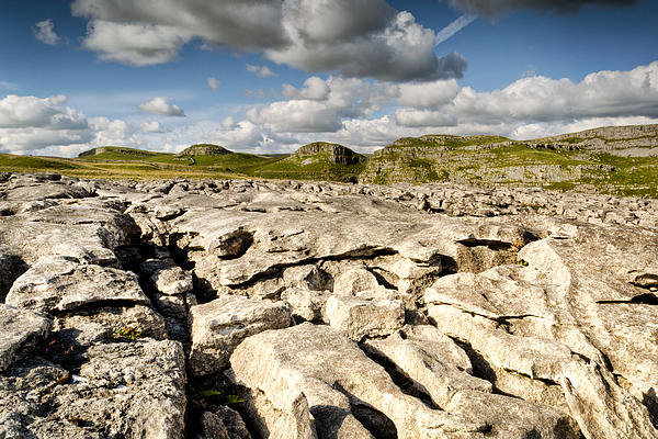 Chris Frost - Limestone Pavements at Ma... Print