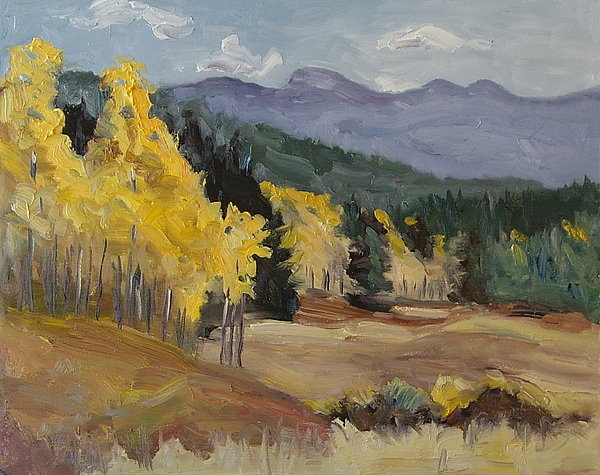 Zanobia Shalks - Aspen Tree Splash of Fall... Print