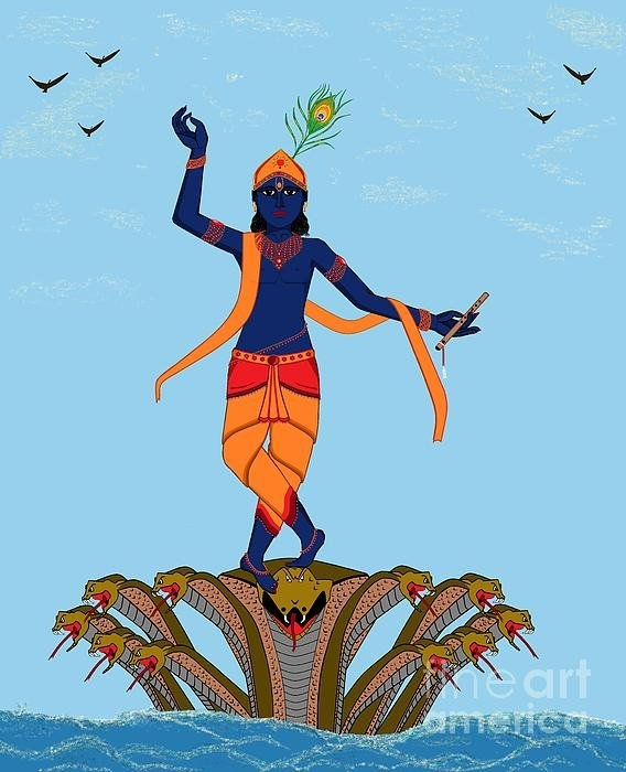 Pratyasha Nithin - Krishna Dancing on Kaliya Print