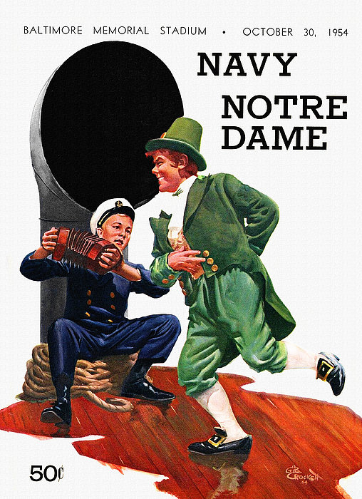 Big 88 Artworks - Notre Dame V Navy 1954 Vi... Print