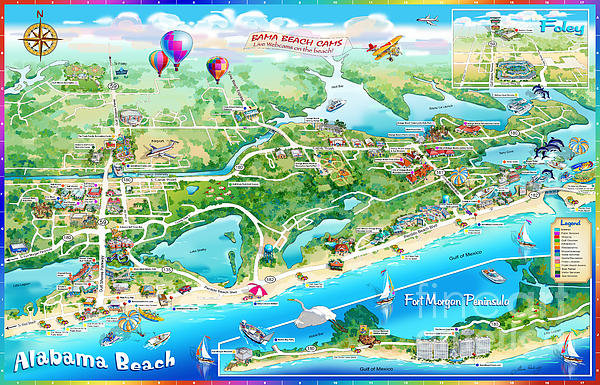 Maria Rabinky - Alabama Beach Illustrated... Print