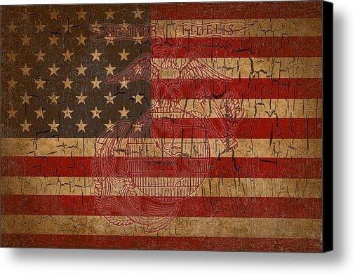 Dawn Romine - Old Glory and the Marine ... Print